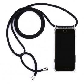 Cyoo, Necklace Case + Necklace, Xiaomi Redmi Note 7, Black, Silicone Case, CY121019
