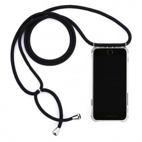 Cyoo Necklace Case + Necklace Xiaomi Redmi Note 7 Silicone Case Black, CY121019