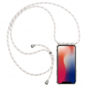 Cyoo Necklace Case + Necklace Huawei Mate 20- White Silicone Case