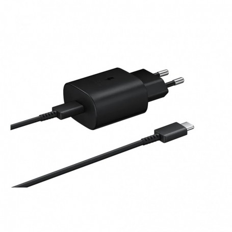 Samsung EP-TA800 Quick Charger + CABLE USB Type C- 25W Black, EP-TA800XBEGWW