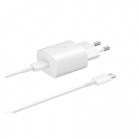 Samsung EP-TA800 Quick Charger + CABLE USB Type C- 25W White, EP-TA800XWEGWW