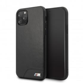 BMW Smooth PU leather PC Apple iPhone 11 Pro Max TPU Case Black, BMHCN65MHOLBK