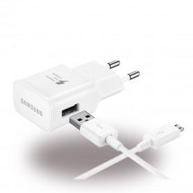 Samsung EP-TA20EWE Carregador USB + Cabo de Dados USB para MicroUSB, Branco, Original, EP-TA20EWEUGWW