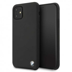 BMW, Silicone Hardcover, Apple iPhone 11 Pro Max, Black, BMHCN65SILBK