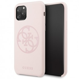 Capa Guess, 4G Silicone Collection Print Logo, Apple iPhone 11 Pro, Rosa, GUHCN58LS4GLP