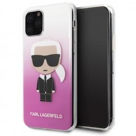 Karl Lagerfeld Iconic Gradient Case Apple iPhone 11 Pro Max Pink, KLHCN65TRDFKPI