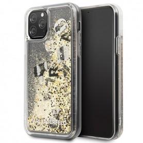 Capa Karl Lagerfeld, Glitter Floatting, Apple iPhone 11 Pro, Transparente, KLHCN58ROGO