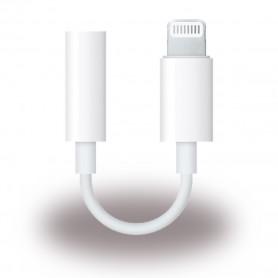 Apple, MMX62ZM / A, Adapter / Headphone Connector, Lightning to 3.5mm, White, MMX62ZM/A