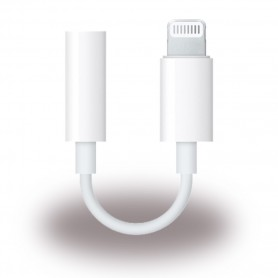 Apple, MMX62ZM/A, Adapter / Headphone Connector, Lightning to 3.5mm, White