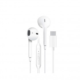 Auscultadores Cyoo, USB-C Stereo Tipo C, Branco, CY121404