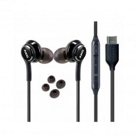 Auscultadores Samsung, EO-IC100BBEG, AKG In-Ear Tipo C, Preto, Original, GH59-15106A / 15198A
