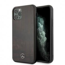 Mercedes-Benz Wood Line Rosewood Hard Case Mercedes-Benz for iPhone 11 Pro, MEHCN58VWOBR