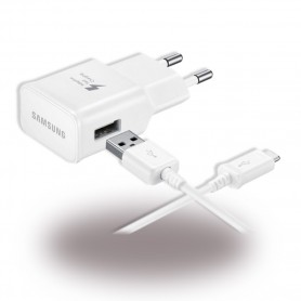 Samsung, EP-TA200 + Cabo Tipo C EP-DR140, Carregador USB, 2mA, Branco, Original, EP-TA200EWE+EP-DR140