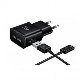 Samsung, EP-TA200 + Cabo Tipo C EP-DR140, Carregador USB, 2mA, Preto, Original, EP-TA200EBE+EP-DR140