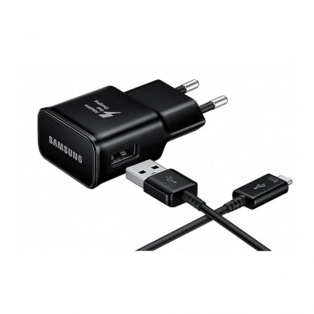Samsung, EP-TA200 + Type C Cable EP-DR140, USB Charger, 2mA, Black, EP-TA200EBE+EP-DR140