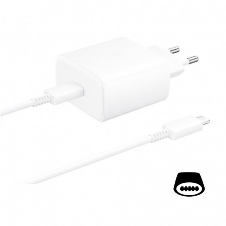 Samsung EP-TA845 quick charger + Type-C to Type-C cable 45W white, EP-TA845XWEGWW
