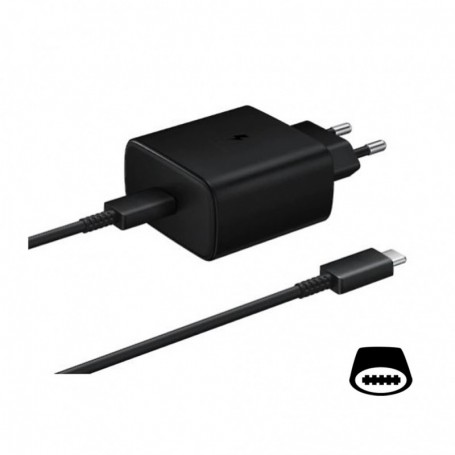 Samsung EP-TA845 quick charger + Type-C to Type-C cable 45W black, EP-TA845XBEGWW