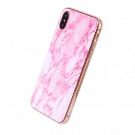 Uunique, Street Marble, Silicone Case, Apple iPhone X, Pink, UUSTIP8TPU2