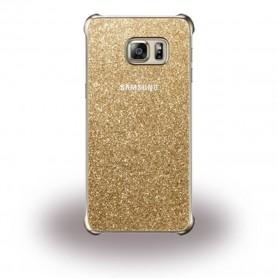 Capa Flip Samsung, EF-XG928CF Clear View, G928F Galaxy S6 Edge Plus, Dourado, Original, EF-XG928CFEGWW