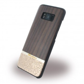 Uunique, Rosewood + Gold Embossed UUS8SLSHS05, Hardcover, Samsung G950 Galaxy S8, Brown
