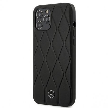 Mercedes Benz, Wave Line, iPhone 12 mini (5.4), black, Hardcover, MEHCP12SMULBK