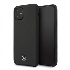 Mercedes Benz, Silicone Line, iPhone 12 mini (5.4), black, Hardcover, MEHCP12SSILBK