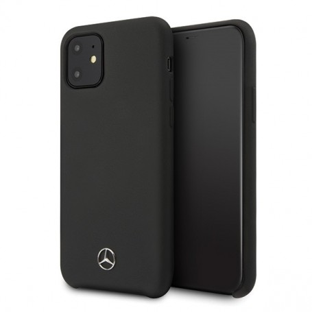 Mercedes Benz, Silicone Line, iPhone 12 mini (5.4), black, Hardcover, MEHCP12SSILBK