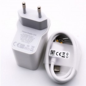 OPPO, Vooc Charger + Type C Cable, 18W, white, quick charger, OP92JAEH D301 I161