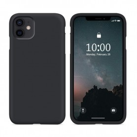 Cyoo, Premium Liquid Silicone, Apple iPhone 12 mini (5.4 Zoll), black, Hard Case, CY121872