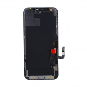 Pulled, original quality, Lcd+Touch Screen Full Set, Apple iPhone 12, 12 Pro, black Display Front module Touchscreen