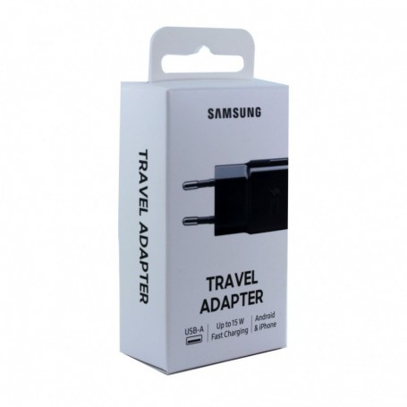 Samsung, EP-TA20EBE USB Adapter, without cable, black, EP-TA20EBENGEU