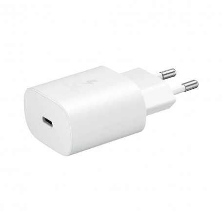 Samsung, EP-TA800NWEGEU USB Adapter, without cable, original USB Type C 25W Charger, 3A, white