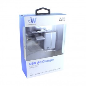 JW JUST WIRELESS, Original, quick charger, 2.4A, grey, 6412