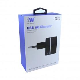 JW JUST WIRELESS, Original, quick charger, 2.4A, black, 6406