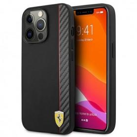 Ferrari, On Track Carbon Stripe Hardcase, iPhone 13 Pro Max, black, FESAXHCP13XBK