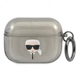 Karl Lagerfeld, Glitter Head, Airpods Pro, transparent, KLAPUKHGK