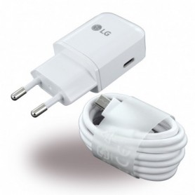 LG MCS-N04 USB Tipo C Carregador + USB Tipo C Cabo 3000mA, Branco, Original