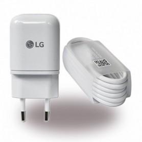LG MCS-H05 Carregador USB + Cabo de Dados USB Tipo C para USB, Branco, Original