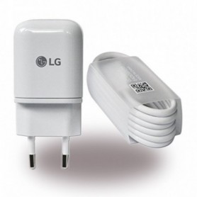 LG, MCS-H05 / MCS-H06, USB Charger + Data Cable USB Type C to USB, White