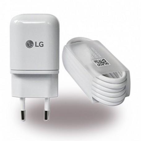LG MCS-H05 / MCS-H06 Carregador USB + Cabo de Dados USB Tipo C para USB, Branco, Original