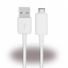 Samsung Charger Cable / Data Cable USB to MicroUSB 0.5m White, ECB-DU68WE