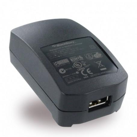 Blackberry ASY-06338-007 Carregador de Viagem + Cabo USB 500mAh, Preto, Original
