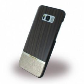 Uunique Rosewood + Gold Embossed Hardcover Samsung G955 Galaxy S8 Plus Brown, UUS8PSLSHS03