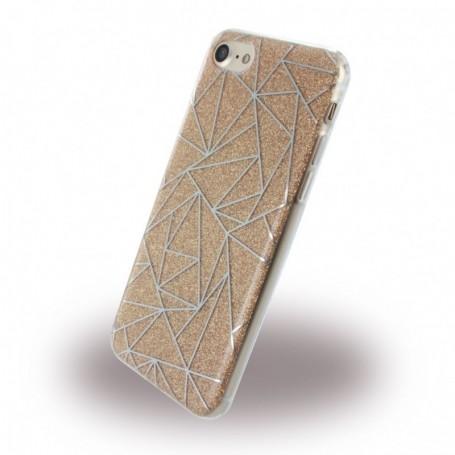Capa em Silicone UreParts Tribal Capa Apple iPhone 7, 8, Dourado, 160425
