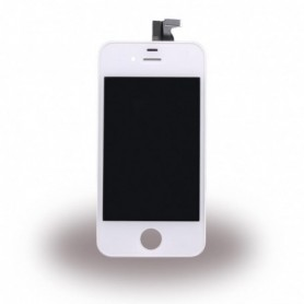 Apple iPhone 4, Spare Part, LCD Display / Touch Screen, White, CY114053