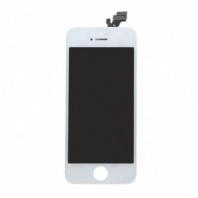 Apple iPhone 5, Spare Part, LCD Display / Touch Screen, White, CY114057