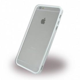 Capa Pára-choques em TPU / Apple iPhone 6 Plus, 6s Plus, Transparente e Branco