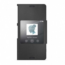Capa Flip Sony, SCR26, Style Capa, / S-View Capa, Xperia Z3 Compact, Preto, Original, 1287-6181
