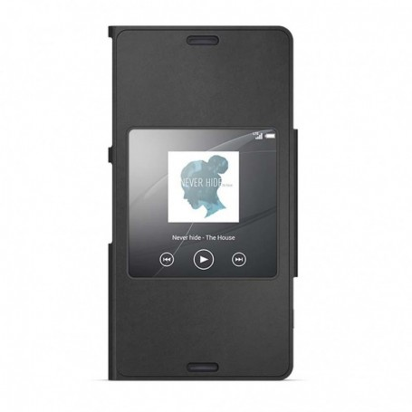 new style 0100b 84398 Sony SCR26 Style Cover Book Cover / S-View Case Xperia Z3 Compact Black,  1287-6181
